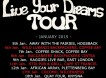 LIVE YOUR DREAMS TOUR – January Dates